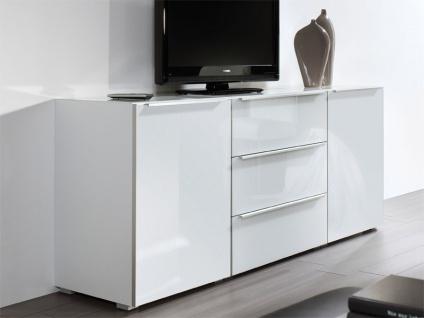 Nolte Alegro Style Kommode Front in Weißglas Höhe und Korpus wählbar