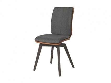 Bert Plantagie Stuhl Tara Wood Komfort 815C mit Bi_Color-Mattenpolsterung Polsterstuhl für Esszimmer Speisezimmerstuhl ohne Armlehnen Gestellausführung Naht Reißverschlußfarbe und Bezug wählbar