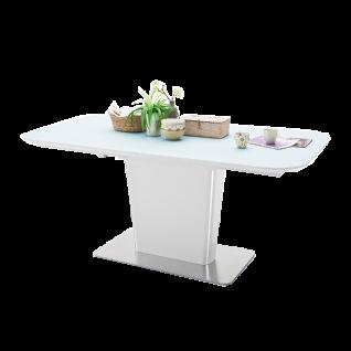 MCA Furniture Ubora UB18EG Säulentisch mit Klappeinlage und Synchronauszug Ausführung wählbar für Ihr Wohnzimmer