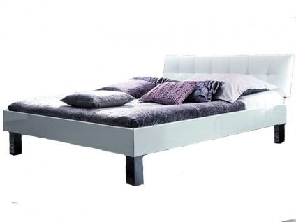 Hasena Top-Line Bettrahmen Advance 18 Kopfteil Ronna in weiß und Füße Mico aus Metall Liegefläche 180x200 cm optional mit Nachttisch Onna und Längstraverse