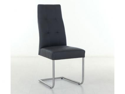 Standard Furniture Stuhl Henry 2 Schwingstuhl mit Edelstahl-Rundrohr-Gestell für Wohnzimmer oder Esszimmer Bezug in Kunstleder wählbar - Vorschau 2