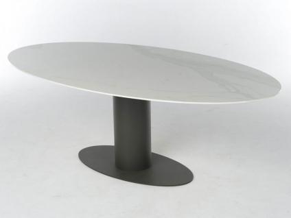 Oval Esstisch mit ovaler Keramik-Tischplatte von Bert Plantagie Tisch für Esszimmer Gestellausführung und Größe wählbar