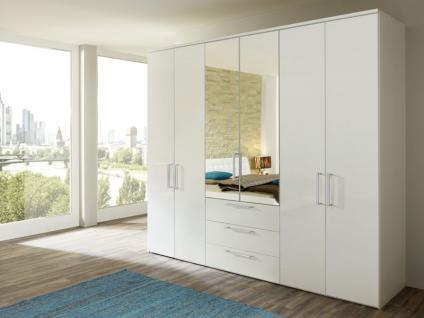 Nolte Horizont 8000 Drehtürenschrank Kombination Spiegel- und Holzfront mit Schubkästen Schlafzimmer Farbe wählbar