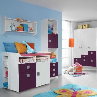 Rauch Skate Babyzimmer 3- teilig bestehend aus Drehtürenschrank Wickelkommode und babybett inklusive lattenroste Liegefläche ca. 70 x 140 cm Farbausführung wählbar optional mit Regal und Wandregal - Vorschau 3