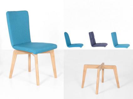 Standard Stuhl Manon Stuhlsystem mit Rückenlehne und Ziernähten Polsterstuhl für Esszimmer drei Sitzschalenvarianten drei Gestellvarianten und Bezüge wählbar