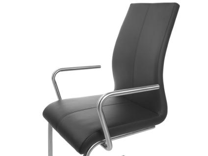 MWA Aktuell Stuhlsystem Crazy Polsterstuhl mit Armlehnen in Kunstleder Stoff oder Echtleder Polsterstuhl für Esszimmer oder Küche Bezug Gestell und Sitzschale wählbar