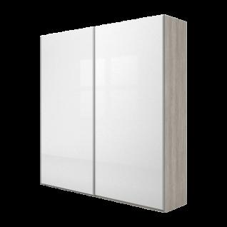 Nolte Möbel Concept Me 300 Schwebetürenschrank Frontausführung in Nussbaum Hochglanz oder mit Glasauflage Größe und Farbe wählbar