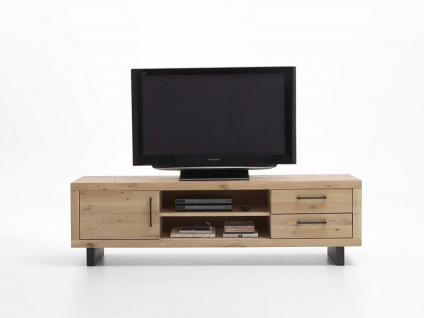 Bodahl Woodstock TV-Bank 10589 wild oak Massivholz Fernsehschrank mit zwei Schubkästen und einer Tür für Wohnzimmer und Gästezimmer Holzausführung wählbar