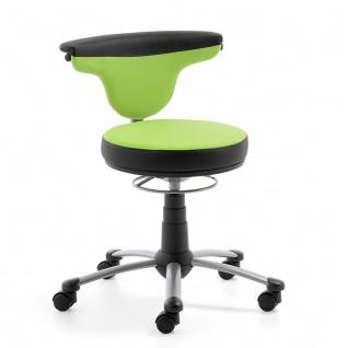 Mayer Sitzmöbel Homeoffice Funktionsdrehstuhl myTorro 1251-333 Bezug zweifarbig grün/ schwarz 360 Grad drehbar Gestell perlsilber