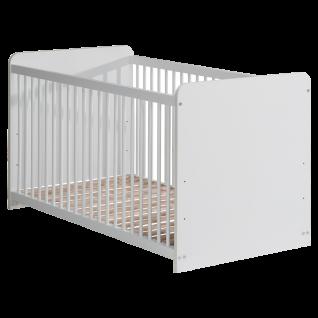 Forte Winnie Babyzimmer Babybett BBSL071 mit 3 Schlupfsprossen inkl. Lattenrost mit 3-facher Höhenverstellung Dekor wählbar - Vorschau 3