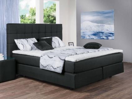 Oschmann Eden 5 ***** Sterne Boxspringbett Liegefläche ca. 180x200 cm in schwarz mit 1000 Federn - TTFK Unterbau Kopfteil KT0046
