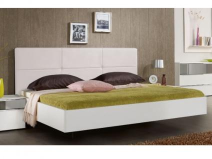 Nolte Elino Bett Doppelbett 1 in schwebender Optik gerundet mit Polster-Rückenlehne in Leder-Nachbildung in verschieden Größen auch XXL-Länge