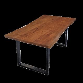 Sit Möbel Esstisch Tischplatte nußbaumfarbig Gestell schwarz lackiert