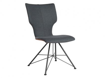 Bert Plantagie Stuhl Joni 713 Spin Bi-Color-Polsterung (zweifarbig) Polsterstuhl für Esszimmer Esszimmerstuhl Gestellausführung und Bezug in Leder oder Stoff wählbar