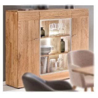 standard furniture nizza highboard 1 massivholz kernbuche geolt eiche natur geolt und eiche bianco geolt