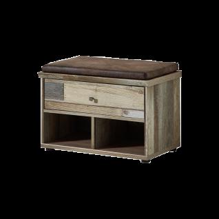 Innostyle Bank Bonanza für Garderobe 30 64 DD 60 Dielenmöbel in Driftwood Nachbildung für Flur und Eingangsbereich
