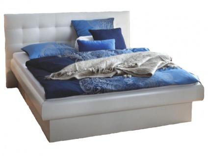 Hasena Top-Line Bett bestehend aus Bettrahmen Prestige 18 und Practico Box in weiß sowie dem Wandpaneel in Kunstleder weiß Liegefläche ca. 180x200 cm optional mit Lattenrost wählbar