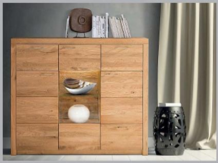 Dkk Klose Kollektion K25 Kastenmöbel Highboard 3tlg. Kommode für Wohnzimmer oder Esszimmer Ausführung und Beleuchtung wählbar
