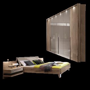 Rauch Steffen Anja Plus Schlafzimmer 3- teilig bestehend aus Futonbett mit Paneel- Set und Drehtürenschrank Liegefläche und Farbausführung wählbar optional mit Kombikommode und Passepartout- Rahmen mit Beleuchtung