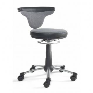 Mayer Sitzmöbel Funktionsdrehstuhl myTorro 1251-334 Bezug zweifarbig silbergrau/ schwarz 360 Grad drehbar Gestell perlsilber
