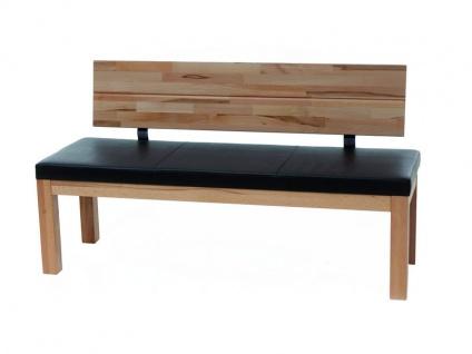 Standard Furniture Factory Sitzbank Catania massive Bank mit Polstersitz für Esszimmer und Küche mit oder ohne Rückenlehne Größe und Ausführung wählbar