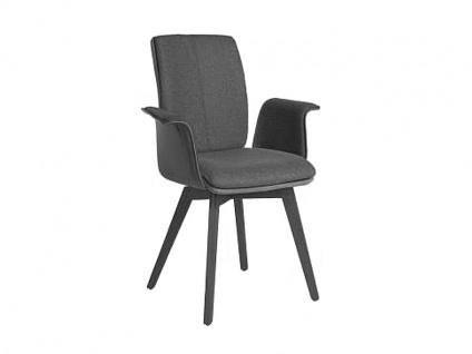 Bert Plantagie Stuhl Tara Wood Komfort 835C mit Armlehnen und Uni-Mattenpolsterung Polsterstuhl für Esszimmer Speisezimmerstuhl Gestellausführung Naht Reißverschlußfarbe und Bezug wählbar