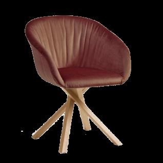 Hartmann Runa Armlehnenstuhl Anni 0633 Bezugsstoff und Farbe wählbar Sitz und Rücken gepolstert mit Elastic-Aktiv-Federung
