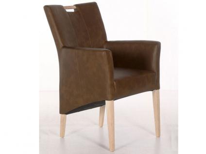 Standard Furniture Sessel Bastian mit Griff aus dem Stuhlsystem Ventas Polsterstuhl für Esszimmer Holzausführung und Bezug wählbar