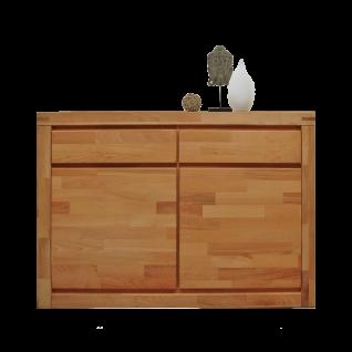 Elfo-Möbel Delft Kommode 6244 mit 2 Türen und 2 Schubkästen Anrichte in Kernbuche geölt Massivholz für Ihr Schlafzimmer oder Wohnzimmer