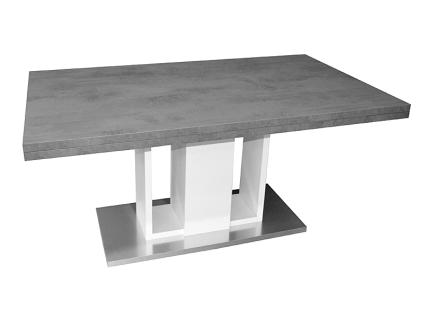 Mäusbacher Esstisch Komfort A ausziehbarer Säulentisch für Ihr Esszimmer Tischplattenfarbe und Untergestellfarbe wählbar und individuell kombinierbar Bodenplatte in Edelstahloptik Größe wählbar