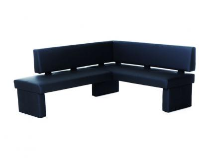 Standard Furniture Eckbank Domino Bank mit Kunstlederbezug Eckbank Polsterbank für Esszimmer und Küche im Bezug Kunstleder Kaiman Farbe Größe und Ausführung wählbar