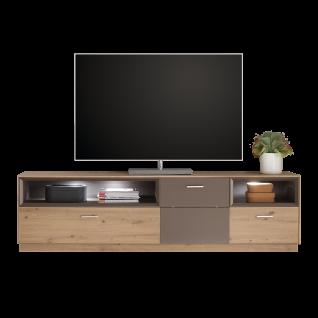 Mäusbacher Frame Lowboard LB_12 für Ihr Wohnzimmer TV-Unterteil mit einer Tür zwei Schubkästen und zwei offenen Fächern Ausführung wählbar