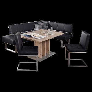 K+W Silaxx Essgruppe 7917 Spider II vierteilig bestehend aus einer eleganten Eckbank einem Holztisch aus dem Modell 7822 mit zwei exklusiven Freischwingern aus der Modellreihe 7869 in dem ansprechenden Echtleder Casay 81 bezogen