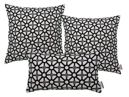 Tom Tailor Zubehör/ Heimtextilien Kissenbezug Combined im trendigen schwarz weiß Look mit geometrischem Musterdruck, Füllungen gegen Aufpreis wählbar