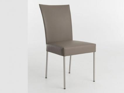 Bert Plantagie Felp Stuhl mit runden oder eckigen Beinen Polsterstuhl für Esszimmer Gestellausführung und Bezug wählbar