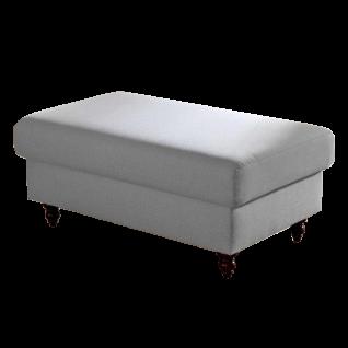 Bali Hockerbank Lisa mit komfortabler Polyätherschaumpolsterung und wählbaren Holzfüßen oder Rollen als perfekte Ergänzung zum Sessel