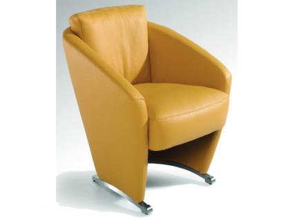 K+W Möbel Einzelsessel 7399 1D Sessel auf Kufen mit Rollen Bezug Ausführung wählbar
