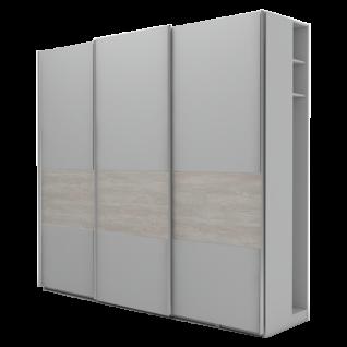 Nolte Möbel Marcato 2.4 Schwebetürenschrank Ausführung 4B mit 4 waagerechten Sprossen 40er Wäschefach Garderobennische und Bauchbinde Front und Korpus in Dekor Schrankgröße und Farbausführung wählbar
