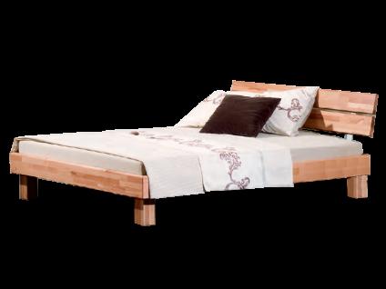 Neue Modular Primolar Varese Bett 140x200cm Komplett-Bett bestehend aus Bettrahmen Kopfteil Varese und Füße Varese in Kernbuche Massivholz natur geölt