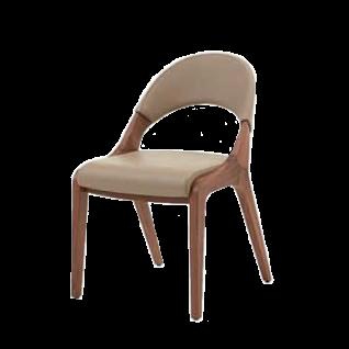 S-Kultur by Wöstmann Stuhl Fluid 2 Massivholzstuhl mit ergonomisch geformten Holz-Polsterrücken und gepolstertem Sitz Polsterstuhl für Esszimmer mit Komfortgurtung Holzausführung und Bezug wählbar