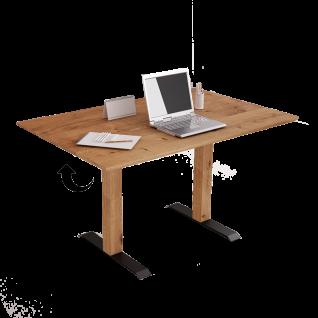 Vierhaus Mobiles Arbeiten Esstisch 4905-140 Tischplatte MDF Wildeiche furniert Säulengestell mit Liftfunktion Stehtisch höhenverstellbar Homeoffice