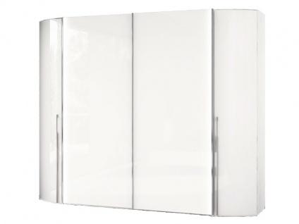 Nolte Columbus Drehtüren-Schwebetüren-Komplettschrank Kleiderschrank Ausführung Korpus in Dekor und Front in Hochglanz in verschiedenen Höhen und Breiten