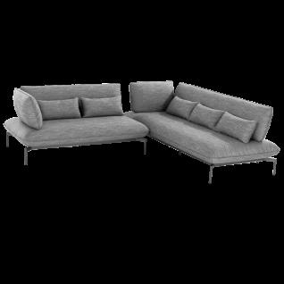Niehoff Garden Valencia Loungegruppe 2-teilig mit Aluminiumgestell anthrazit inkl. Sitz- Rücken- und Dekokissen in stoff anthrazit