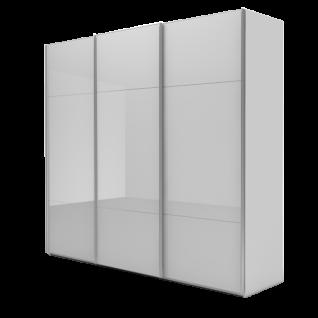 Nolte Möbel Marcato 2.3 Schwebetürenschrank 4 waagerechten Sprossen Korpus in Dekor Front Glas Kristallspiegel Schrankgröße Farbausführung