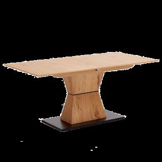 Niehoff Esstisch Skyline 4583 Tischplatte Charakter-Eiche furniert Ausziehtisch Sanduhrengestell Eiche furniert