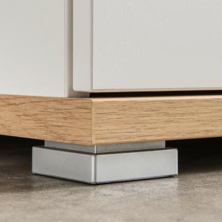 Germania Topix Schuhschrank 3770-513 mit zwei Türen und einem Schubkasten Dekor Weiß mit Absetzung Eiche Nachbildung Platz für 20 Paar Schuhe - Vorschau 4