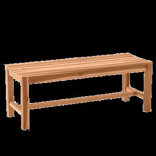 Möbilia Gartenmöbel Gartenbank ca. 120 cm breit Teakholz 3-Sitzer Sitzbank für Garten und Terrasse