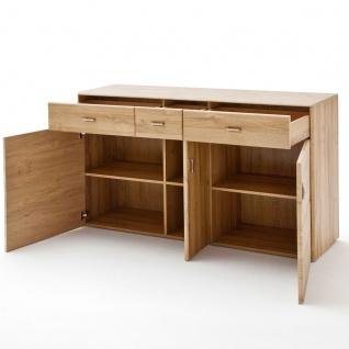 MCA Furniture Florenz Sideboard T01 für Ihr Wohnzimmer oder Esszimmer Kommode mit drei Türen und drei Schubkästen Anrichte in Grandson Oak Nachbildung - Vorschau 3