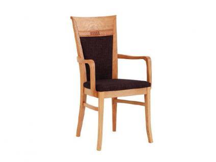 Dkk Klose Sessel S8 mit Armlehnen und geschlossenem gepolsterten Rücken Polsterstuhl 728 für Esszimmer in drei Polstervarianten Gestell und Bezug in großer Auswahl erhältlich