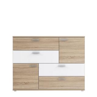 Forte Skive Kommode SKVK46 mit zwei Türen und vier Schubkästen Sideboard für Ihr Wohnzimmer Esszimmer Schlafzimmer oder Kinderzimmer Dekor wählbar - Vorschau 4